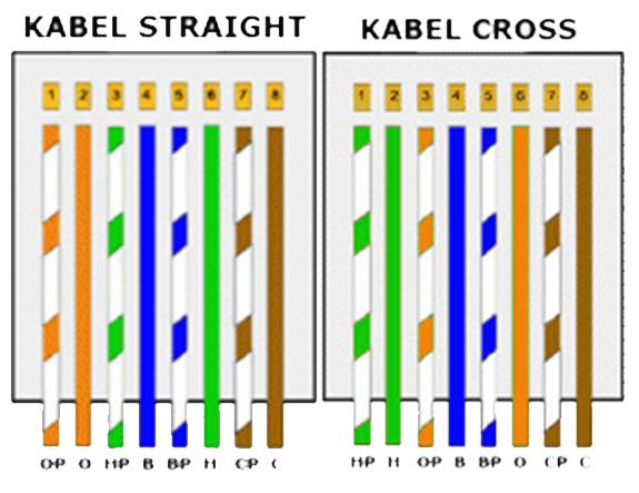cara membuat kabel utp dan urutan